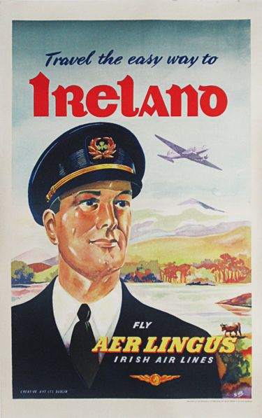 Aer Lingus Irish Airlines | Travel Posters Ads | Vintage ...