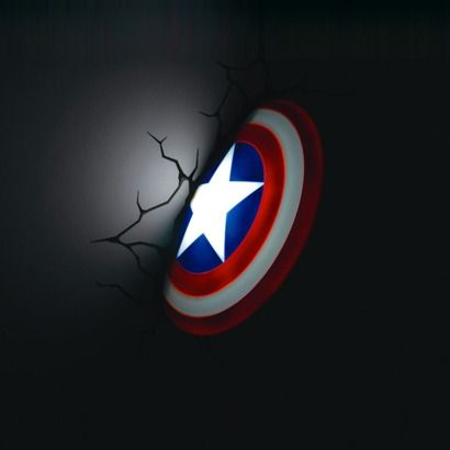 3D Wall Art Captain America Nightlight - And this one, I need this one too...