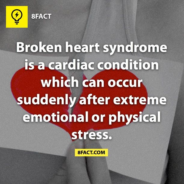 A broken heart can be painful. So much so that under extreme stress it can cause a cardiac condition.