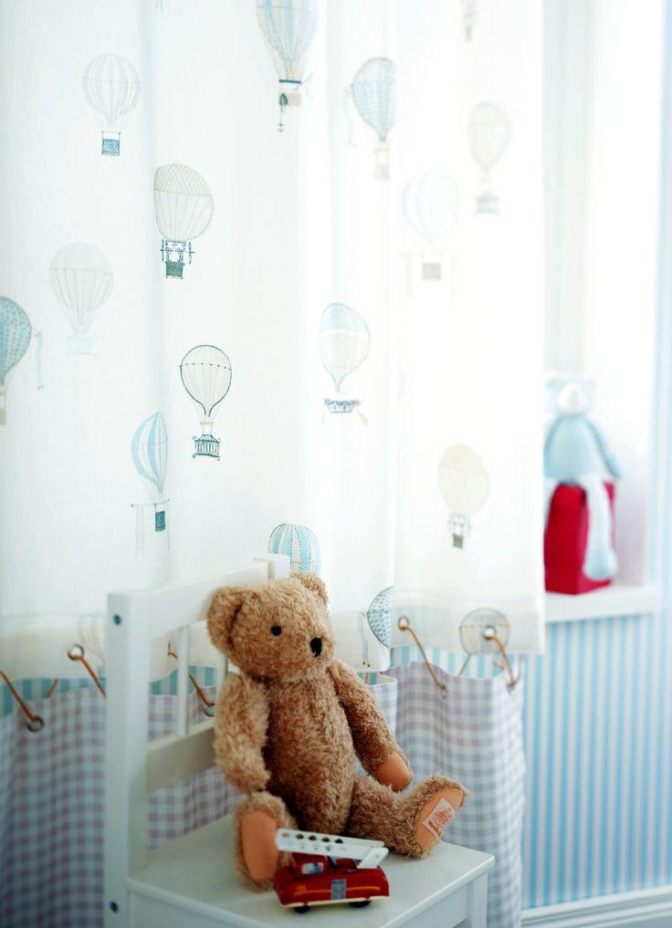 Casadeco Tapeten Kinderzimmer : Casadeco Tapeten & Stoffe Jules et Julie Kinderzimmer BLAU Pinter