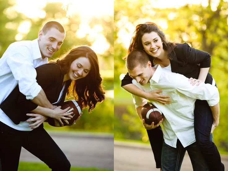 Another cute football engagement picture, your fiancé will enjoy it. I LOVE THIS SO MUCH.!!!