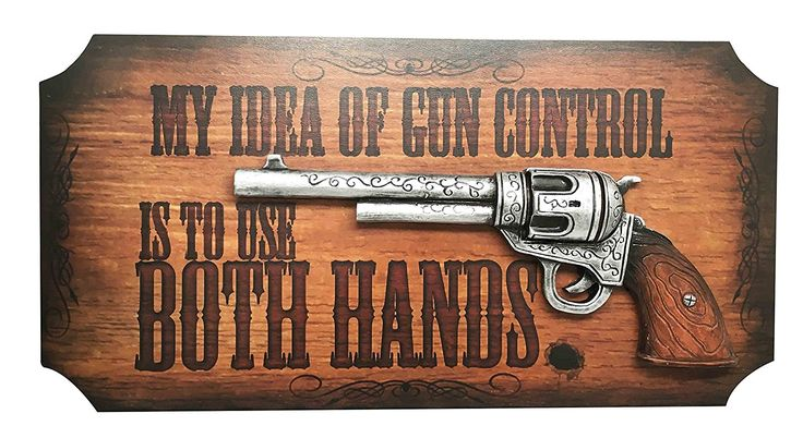 Sheriff Cowboy Country Western Wild West Six Shooter Gun Control Wall Art Sign Plaque Decor 3D Figurine *** You can find more details by visiting the image link. (This is an affiliate link and I receive a commission for the sales) #WallSculptures