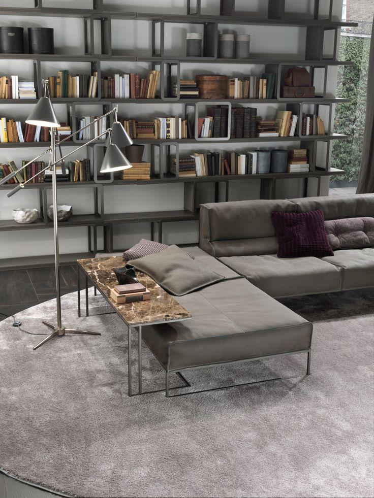 The Cloud Sofa and the Griffi bookshelf
