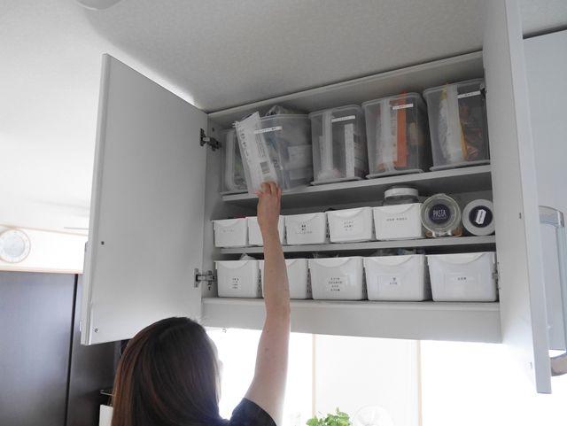 使いづらいキッチンの吊り戸棚収納の悩みを解決 ストレスフリーな