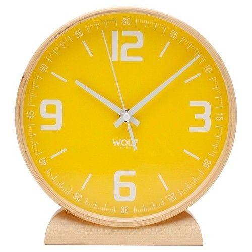 WOLF Modern Round Mantel Table Clock