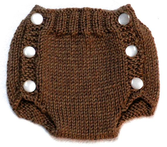 Diaper Cover Knitting Pattern - PDF small 0-3 months