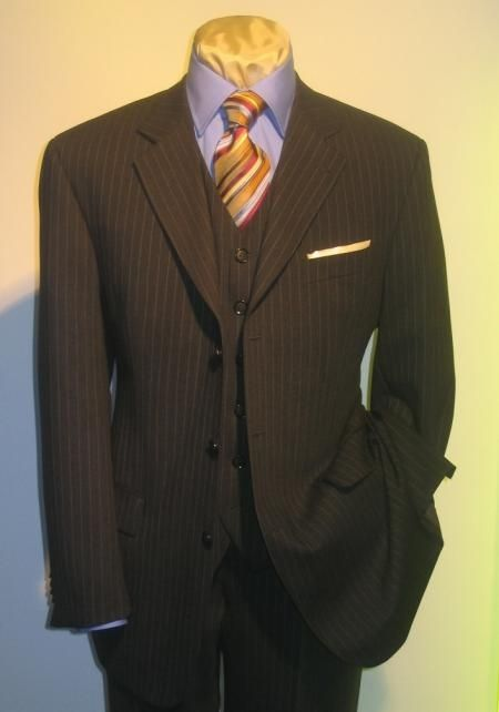mens suit stores Climb the corporate ladder dressed for success in this finely styled suit from Mancini.