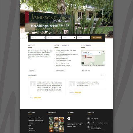 Jamilson Cottage Website Design