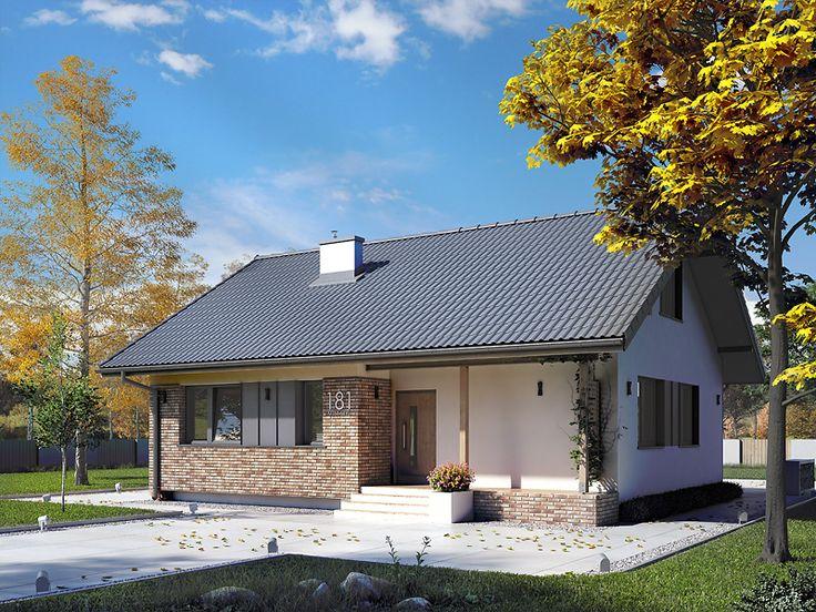 Projekt domu Mak 3 (115 m2). Pełna prezentacja projektu dostępna jest na stronie: https://www.domywstylu.pl/projekt-domu-mak_3.php #mak3  #domywstylu #mtmstyl #projekty #projektygotowe #dom #domy #projekt #budowadomu #budujemydom #design #newdesign #home #houses