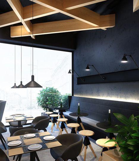 Bristol cafe by umbra design ceiling pinterest