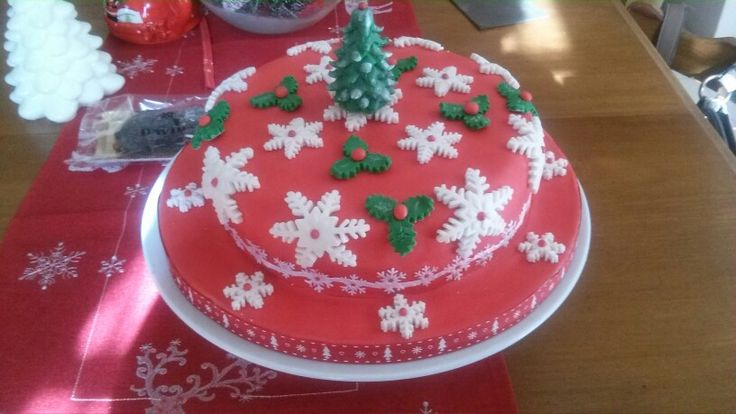 Christmas Cake Decoration Ideas Pinterest : Christmas Cake Cake decorating ideas Pinterest ...