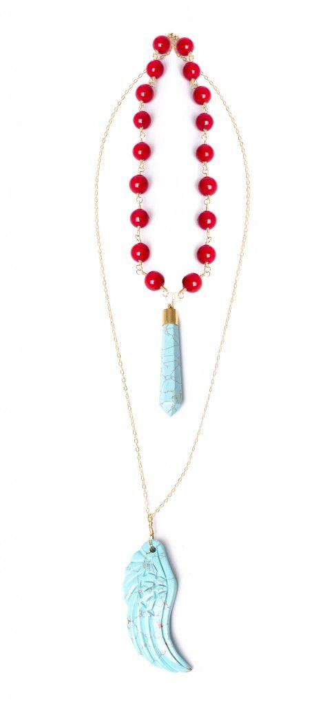 Collar piezas en turquesa de Ananda Store $174.000