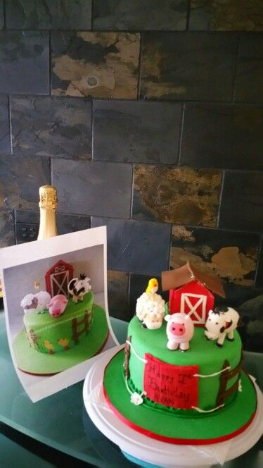 Something I did a  little while ago.....a farm themed cake