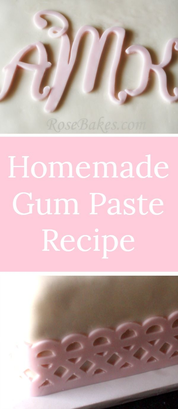 Homemade Gum Paste Recipe