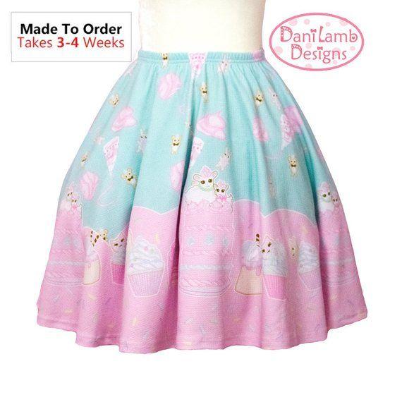 12e9c8f93a67b Fairy Kei Skirt Cupcake Skirt Pastel Frosting Skirt Kawaii Pastel ...