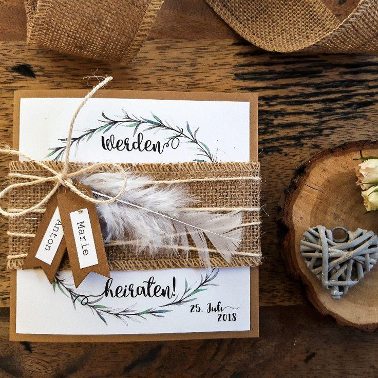 DEINE VINTAGE HOCHZEITSEINLADUNG findest Du hier! – die Einladung zur Hochzeit w…