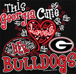 georgia bulldogs | Georgia Bulldogs Football T-Shirts - Cutie Loves Her Bulldogs - Unique ...