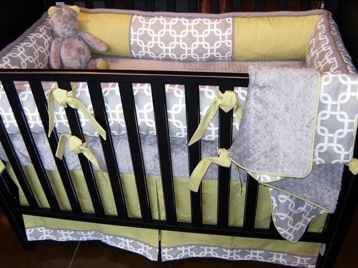 Grey and Yellow crib beddingBaby Beds, Kids Room, Cribs Beds, Baby Boys, Amelia Nurseries, Baby Room, Yellow Cribs, Yellow Beds, Nurseries Ideas