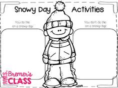 FREE book study companion activities to go with The Snowy Day- perfect for a winter theme!
