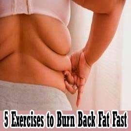 5 Exercises to burn back fat fast