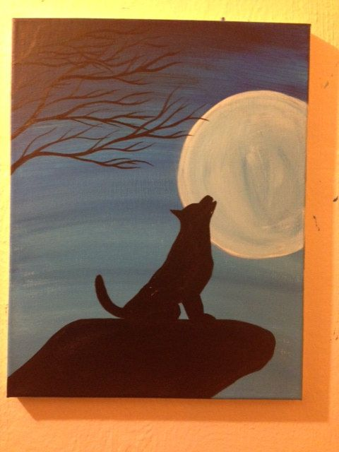 Name Your Price Blue Moon Wolf 11 X 14 Acrylic By
