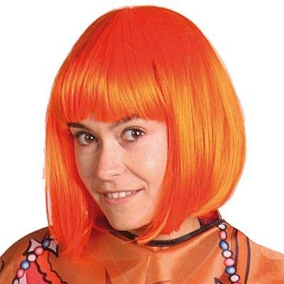 Stijlvolle oranje pruik voor jouw outfit. http://www.feestwinkel.nl/pruik-oranje-bobline.html