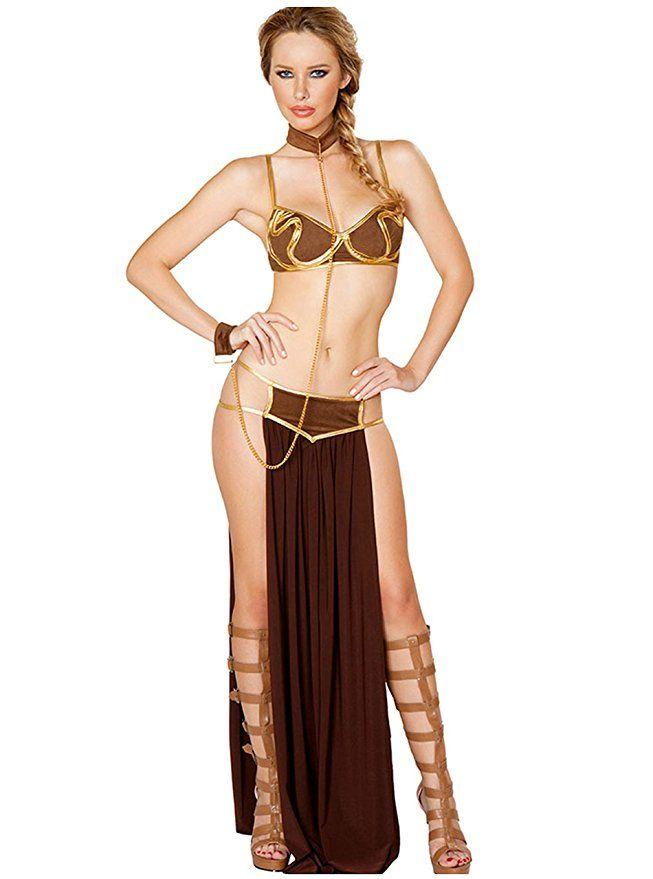 3df67bb8fcc Tankoo Women's Sexy Princess Leia Slave Costume Miss Manners Uniform ...