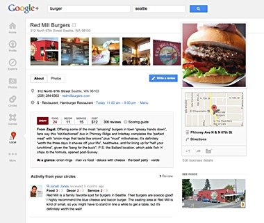 Free Restaurant Recs on the Go from Google+ Local and Zagat