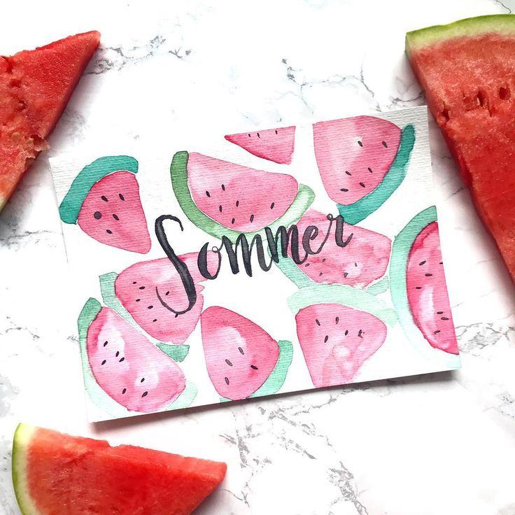 Was wäre ein Sommer ohne Wassermelonen!♥