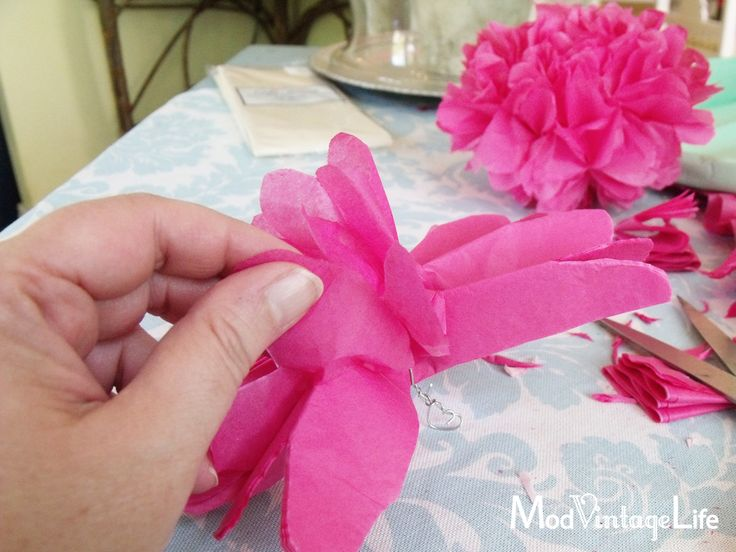 Tissue Paper Flowers - The Tutorial