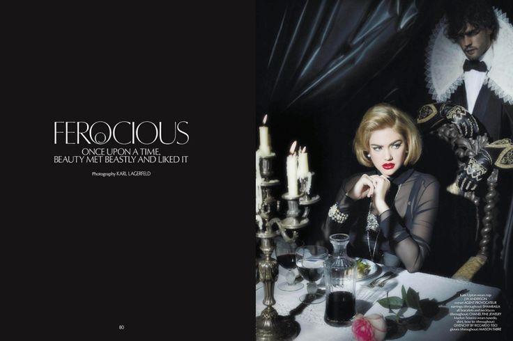 """Les Gants """"La Belle et la Bête"""" photographié par Karl Lagerfeld pour la CR Fashion book. Une collaboration Maison Fabre et Linge au Cœur."""