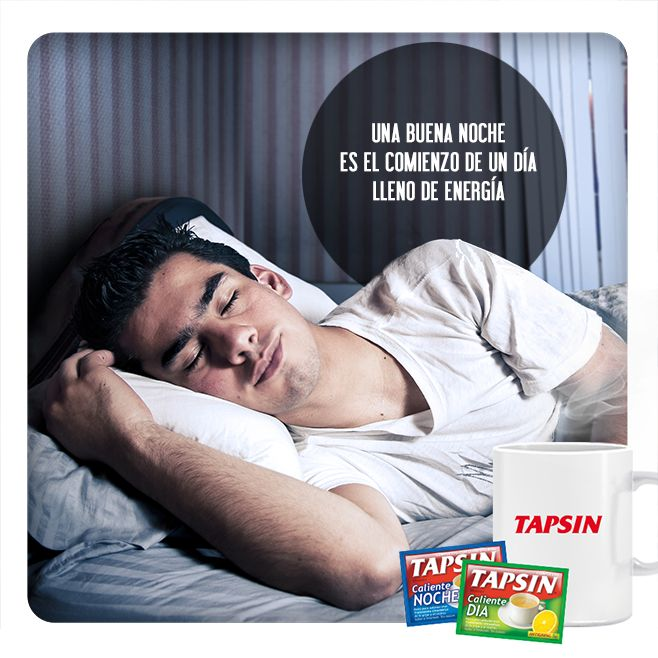¿Con gripe?  La manera más agradable de aliviar los síntomas de la gripe y el resfrío: Tapsin Antigripal.  Encuéntralo en su presentación en polvo para el día y la noche.