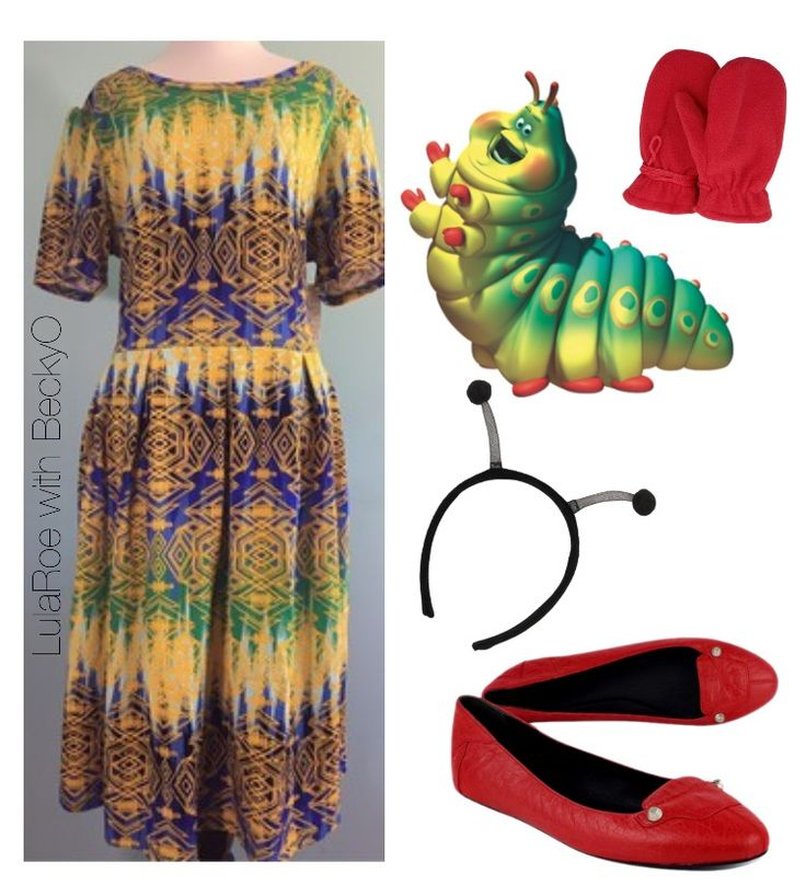 Heimlich from A Bug's Life Halloween Costume idea using LulaRoe Amelia dress