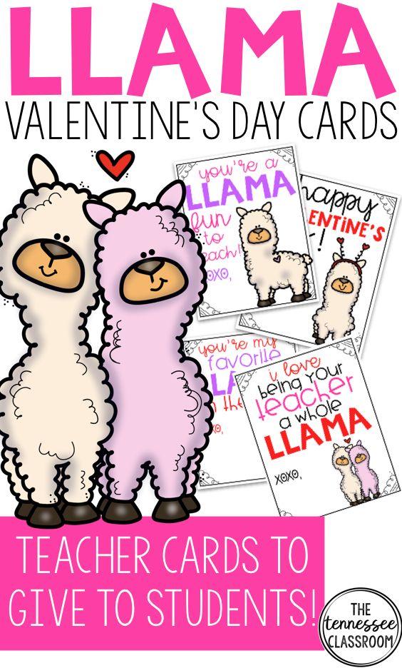 Valentine S Cards Llama Theme Valentines Pinterest Valentines