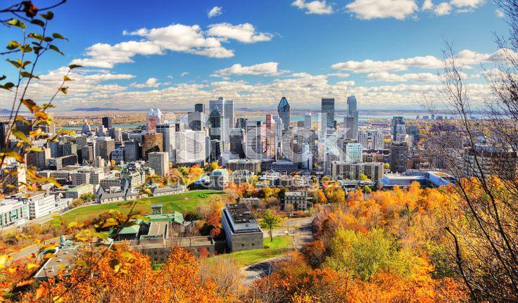 Montreal City at Fall