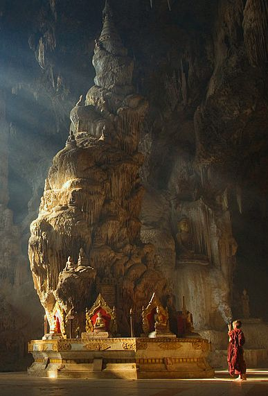 Love the intricate details #Myanmar #Travel #Cave