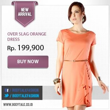 Dress warna cerah cocok banget untuk outfit di siang hari lho.Segera order di www.bodytalk.co.id