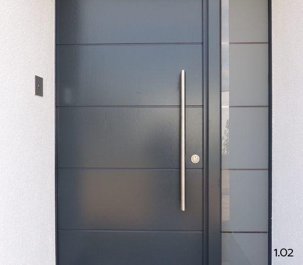 Haustüren modern holz mit seitenteil  Die 25+ besten Haustür mit seitenteil Ideen auf Pinterest ...