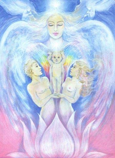 Judgement by Pamela Matthews (Aura-Soma New Aeon Tarot)