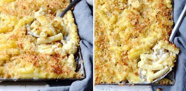 Roasted cauliflower mac and cheese
