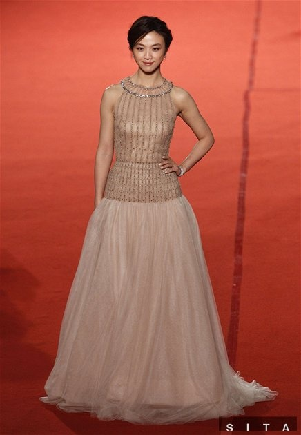 Tang Wei in Valentino Resort 2012.