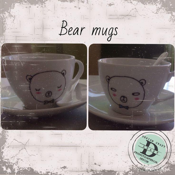 Collezione Bear mugs, tazze da thè/latte_Design Craft www.designcraft.it