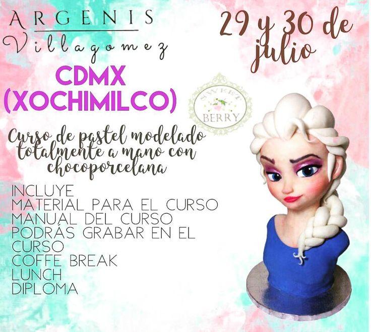 AQUÍ ESTÁ NUESTRA PRIMERA FECHA ���������� 29 y 30 de JULIO EN CDMX (Xochimilco) en la pastelería @sweetberrydf  donde impartiremos este maravilloso curso totalmente hecho pastel y modelado con #chocoporcelana  NO TE PIERDAS ESTE INCREÍBLE CURSO !!���� Para mayor información escríbenos o mandamos tu correo y te atenderemos con mucho gusto !  #frozencake #elsa #frozen #argenisvillagomez #modelamosconelcorazon #horneamosconelcorazon #reconverpack #gallantdale #reposteriacreativa #glamstock…
