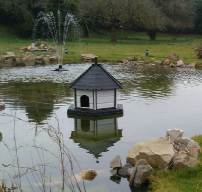 Floating Duck House With Solar Lights