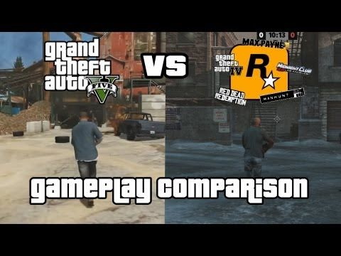 GTA V vs. Past Rockstar Games (Gameplay Comparison)