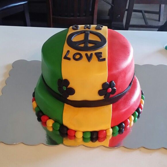 Rasta cake! By:Amanda Upton