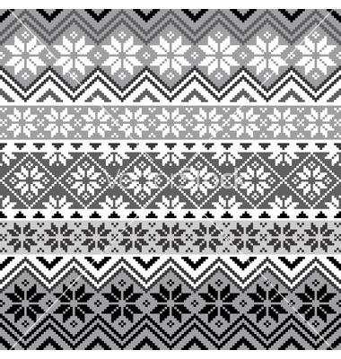 Nordic snowflake pattern vector on VectorStock