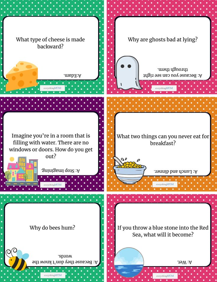 36 Printable Riddle Cards for Kids (Questions and Answers