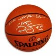 Autographed Ralph Sampson Official NBA Basketball Inscribed 1985-86 Western Conf Champs