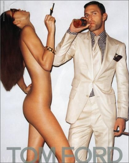 Tom Ford Ad Campaign- throw yourself at me all you want, I'm above your game.